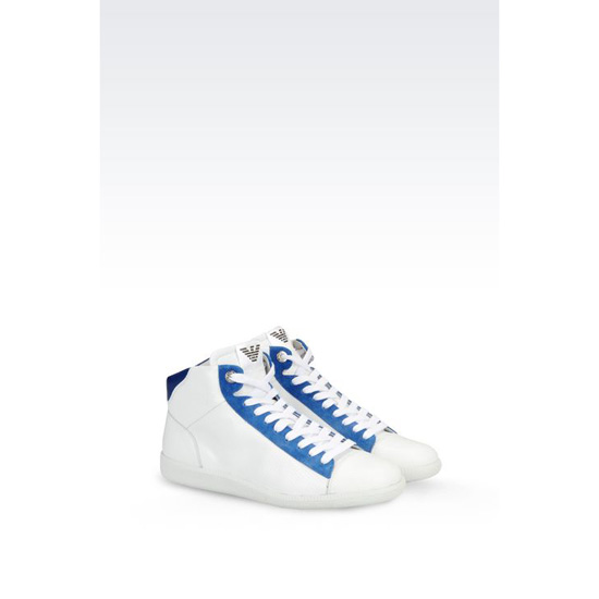 ARMANI HIGH TOP SNEAKER IN CALFSKIN Outlet Online