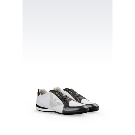 ARMANI SNEAKER IN CALFSKIN WITH LOGO Outlet Online
