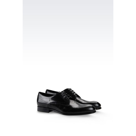 ARMANI DERBY IN PRINTED CALFSKIN Outlet Online