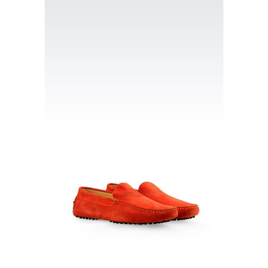 ARMANI SUEDE DRIVING SHOE Outlet Online