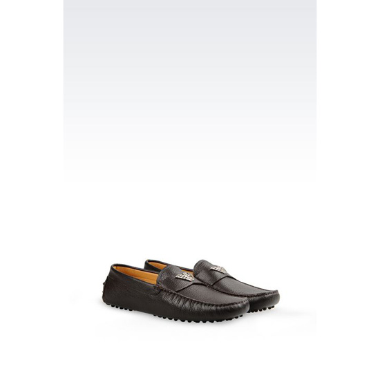 ARMANI DRIVING SHOE IN CALFSKIN Outlet Online