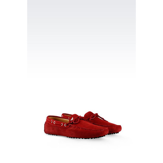 ARMANI DRIVING SHOE IN MICRO PERFORATED SUEDE Outlet Online