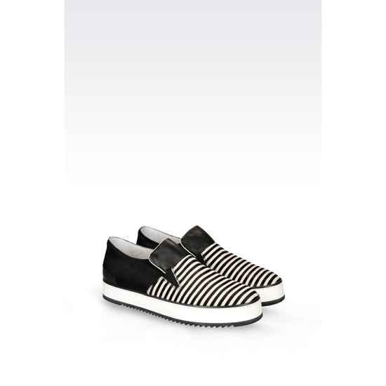 ARMANI SLIP-ON IN PONY SKIN EFFECT CALFSKIN Outlet Online