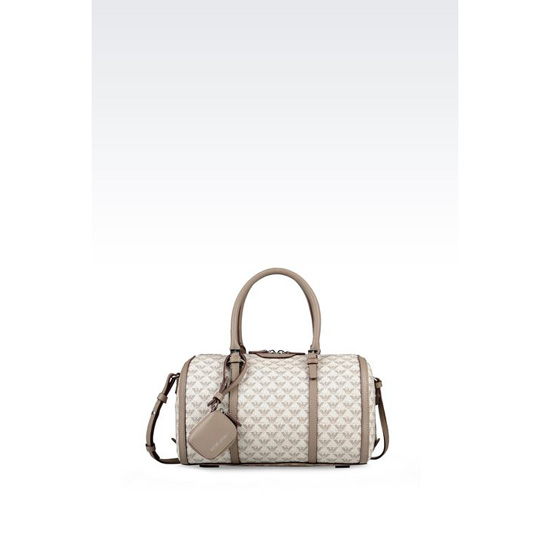 ARMANI SMALL BAULETTO BAG IN LOGO PATTERNED PVC Outlet Online