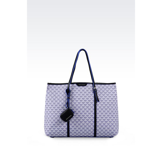 ARMANI SHOPPING BAG IN LOGO PATTERNED PVC Outlet Online