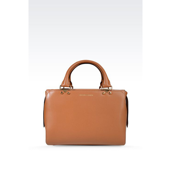 ARMANI SMALL HANDBAG IN BOARDED CALFSKIN WITH DETACHABLE SHOULDER STRAP Outlet Online