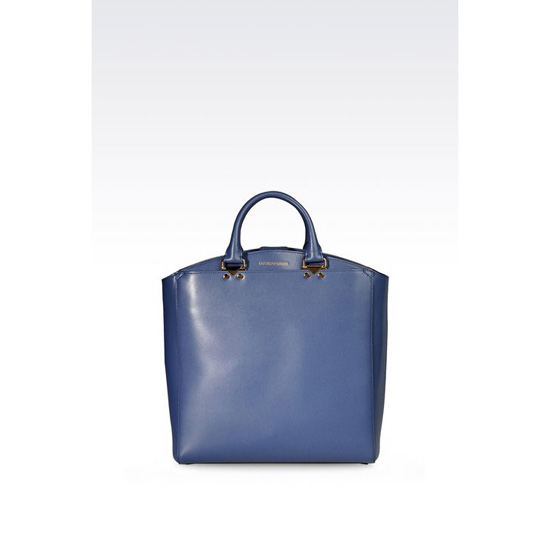 ARMANI TOTE BAG IN BOARDED CALFSKIN Outlet Online