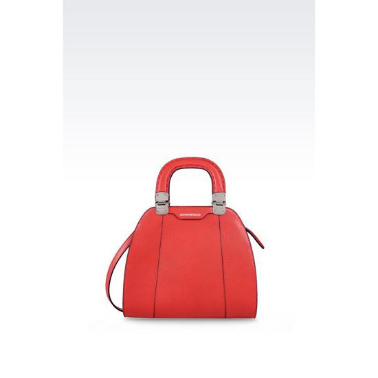 ARMANI SMALL HANDBAG IN SAFFIANO CALFSKIN Outlet Online