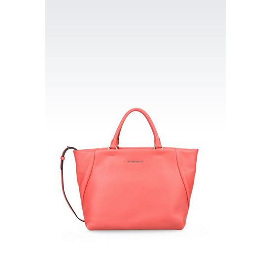 ARMANI CALFSKIN TOTE WITH SHOULDER STRAP Outlet Online