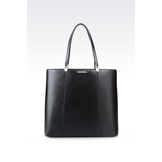 ARMANI SHOPPING BAG IN SAFFIANO CALFSKIN Outlet Online