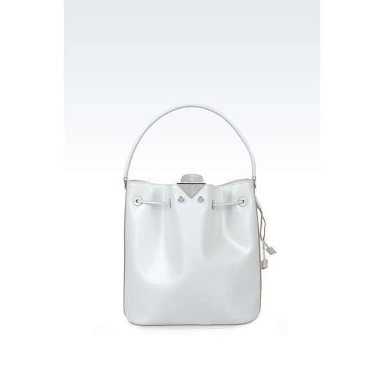 ARMANI BUCKET BAG IN BOARDED CALFSKIN Outlet Online