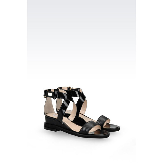 ARMANI MIRROR EFFECT SANDAL WITH RUBBER SOLE Outlet Online