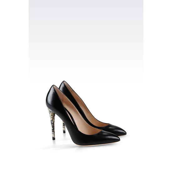 ARMANI COURT SHOE IN LUX KIDSKIN Outlet Online