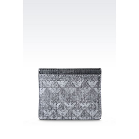 ARMANI CREDIT CARD HOLDER IN LOGO PATTERNED PVC Outlet Online