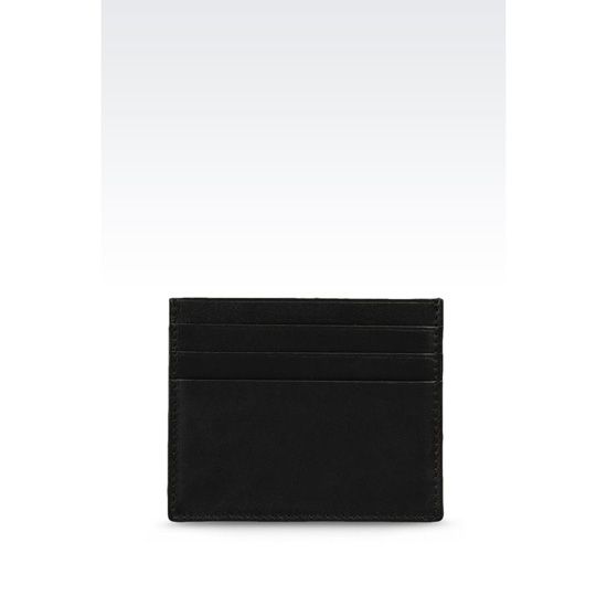 ARMANI CREDIT CARD HOLDER IN SMOOTH CALFSKIN Outlet Online