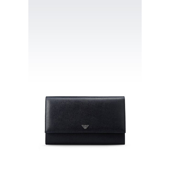 ARMANI BUTTON WALLET IN SAFFIANO CALFSKIN Outlet Online