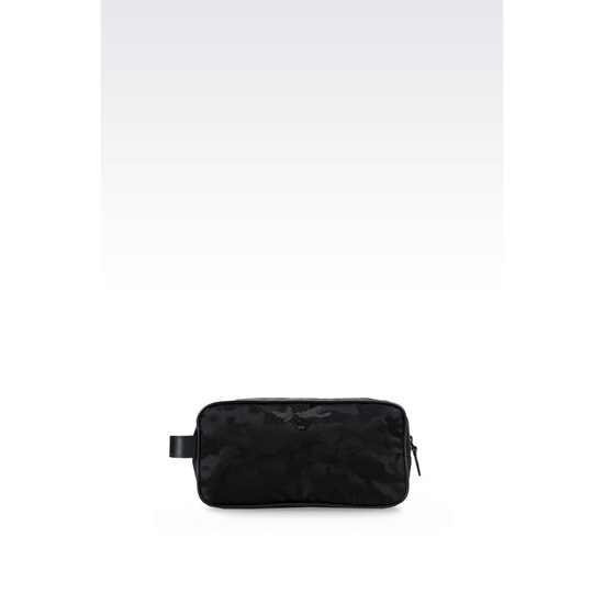 ARMANI WASH BAG IN CAMOUFLAGE TECHNICAL FABRIC Outlet Online