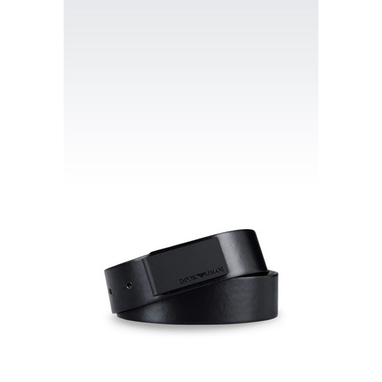 ARMANI RUNWAY BELT IN FAUX NAPA LEATHER Outlet Online