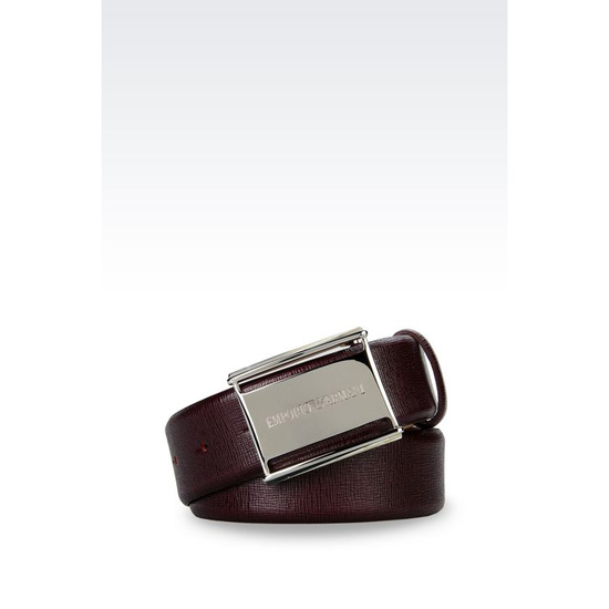 ARMANI BELT IN SAFFIANO CALFSKIN Outlet Online