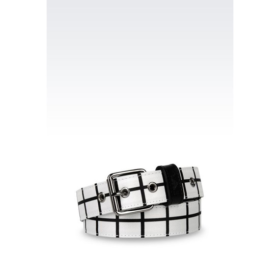 ARMANI RUNWAY BELT WITH CHECKED DESIGN Outlet Online