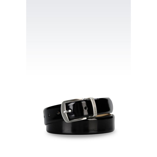 ARMANI BELT IN BRUSHED CALFSKIN Outlet Online