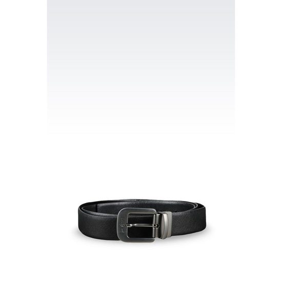 ARMANI REVERSIBLE BELT IN SAFFIANO CALFSKIN Outlet Online
