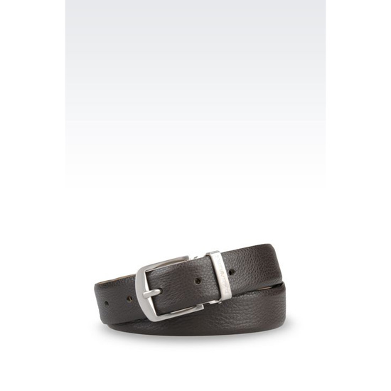 ARMANI BELT IN TUMBLED CALFSKIN Outlet Online
