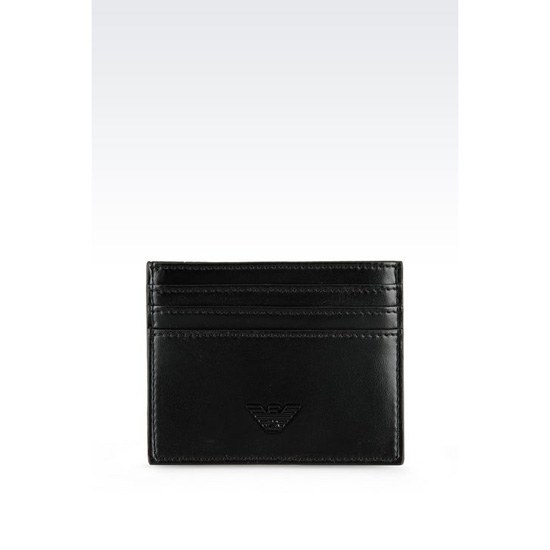 ARMANI CREDIT-CARD HOLDER IN ECO NAPPA Outlet Online