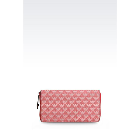 ARMANI ZIP-AROUND WALLET IN LOGOED PVC Outlet Online