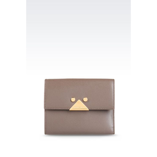 ARMANI SMALL WALLET IN BOARDED CALFSKIN Outlet Online