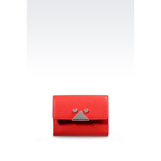 ARMANI BUTTON WALLET IN BOARDED CALFSKIN WITH KEY RING Outlet Online