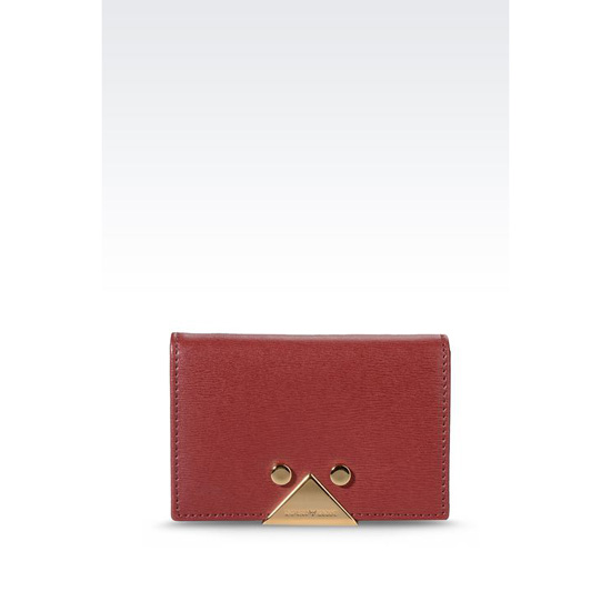ARMANI BUSINESS CARD HOLDER IN BOARDED CALFSKIN Outlet Online