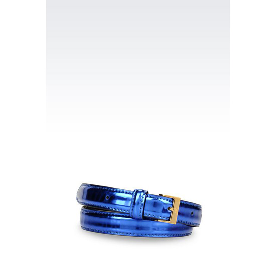 ARMANI LAMINATED EFFECT BELT Outlet Online