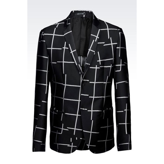 ARMANI JACKET IN CHECK JACQUARD Outlet Online
