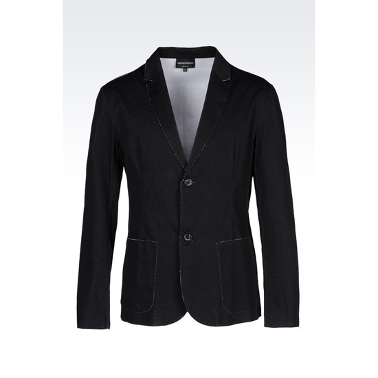 ARMANI RUNWAY JACKET IN RAW CUT COTTON Outlet Online