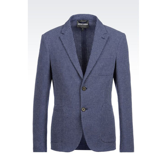 ARMANI JACKET IN MICRO JACQUARD COTTON Outlet Online