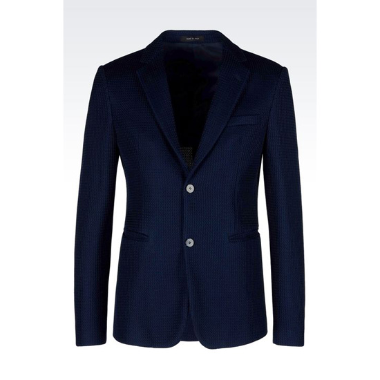 ARMANI JACKET IN MESH EFFECT JERSEY Outlet Online