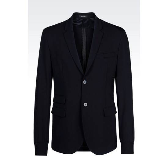 ARMANI JACKET IN STRETCH WOOL Outlet Online