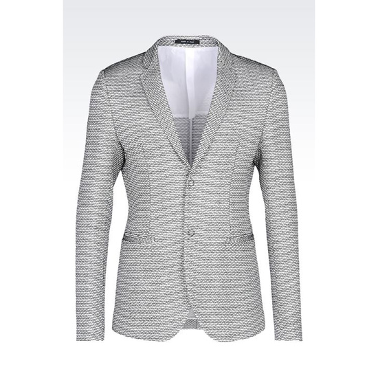 ARMANI RUNWAY JACKET IN RAFFIA EFFECT COTTON AND VISCOSE Outlet Online