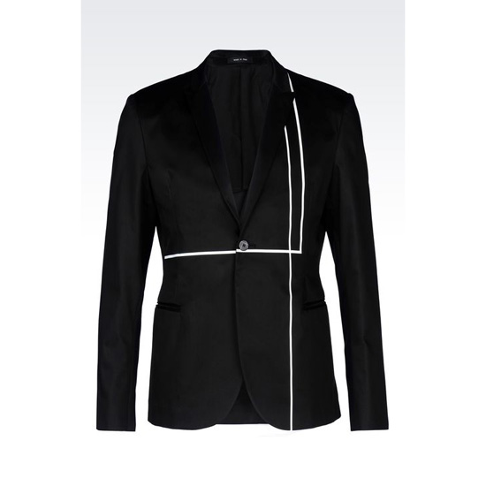 ARMANI RUNWAY JACKET IN COTTON SATIN Outlet Online
