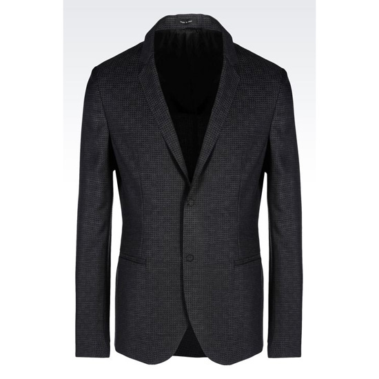 ARMANI JACKET IN JACQUARD WOOL Outlet Online