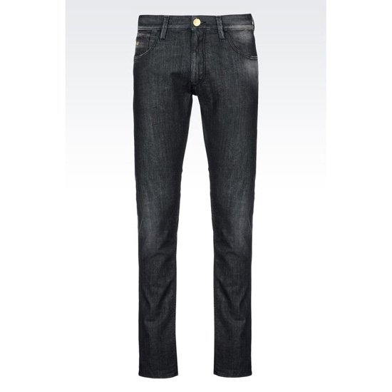 ARMANI SLIM FIT BLACK WASH JEANS Outlet Online