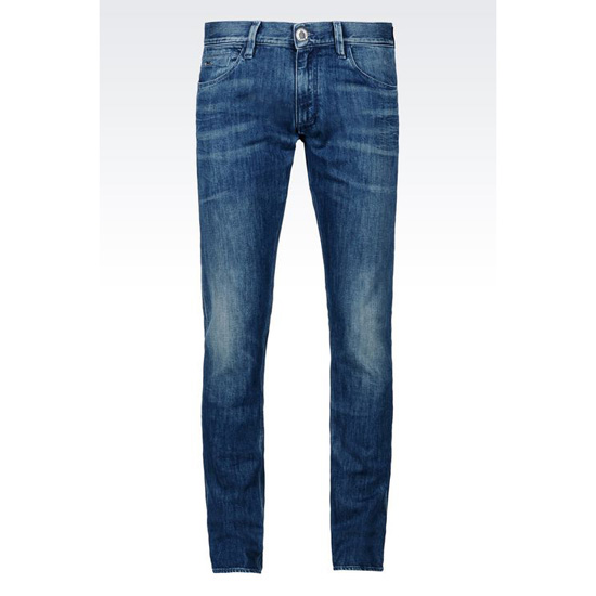 ARMANI SLIM FIT MEDIUM VINTAGE WASH JEANS Outlet Online