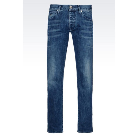 ARMANI REGULAR FIT MEDIUM WASH JEANS Outlet Online