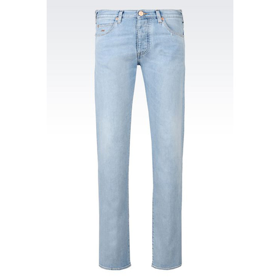 ARMANI SLIM FIT LIGHT WASH JEANS Outlet Online