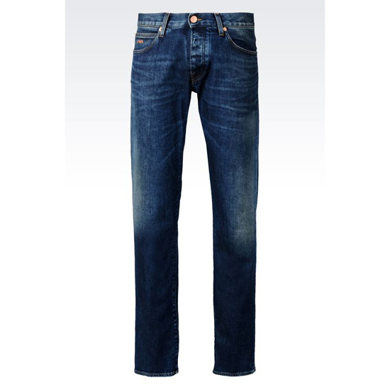 ARMANI REGULAR FIT DARK WASH JEANS Outlet Online