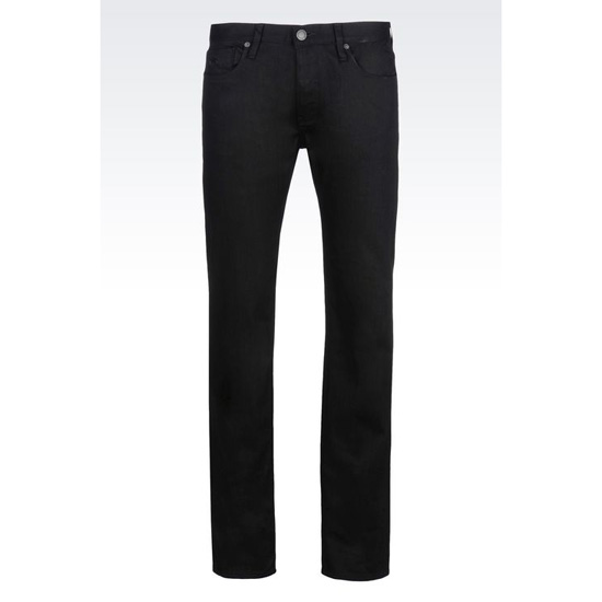 ARMANI REGULAR FIT BLACK WASH JEANS Outlet Online