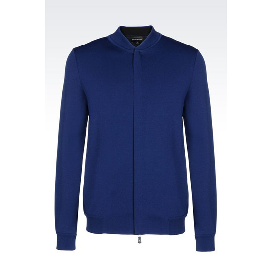 ARMANI FULL ZIP BLOUSON IN VISCOSE BLEND Outlet Online