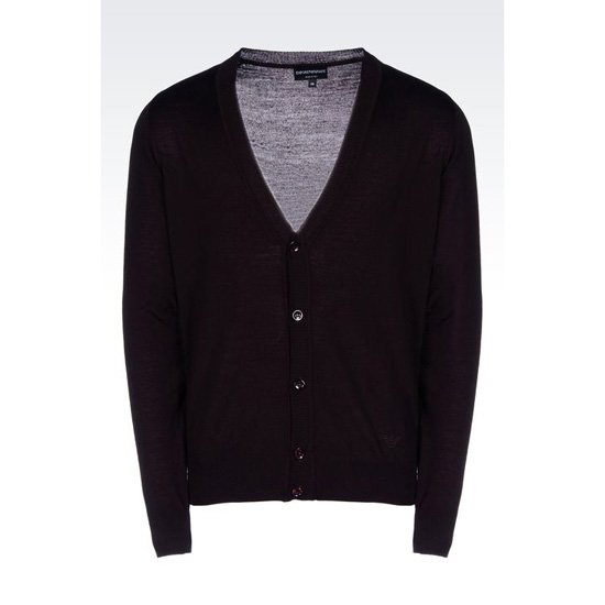ARMANI CARDIGAN IN SHAVED WOOL Outlet Online