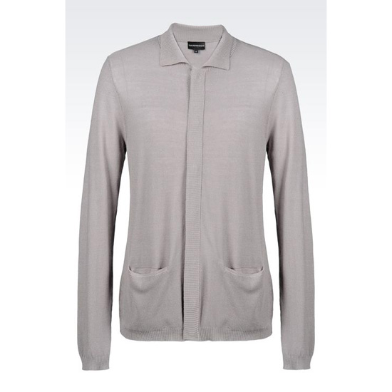 ARMANI CARDIGAN IN SILK AND COTTON Outlet Online